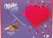 Čokoládové cukrovinky: Milka a Figaro ve valentýnském obalu