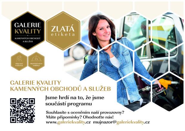 Čerpací stanice mohou získat ocenění Zlatá etiketa v programu Galerie kvality