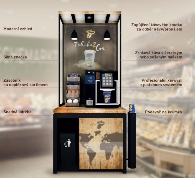 Vybavení: Kávový koutek Tchibo2Go