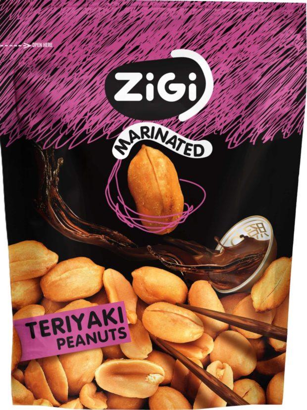 Slané pochutiny: Marinované arašídy Ziggy s příchutí Teriyaki