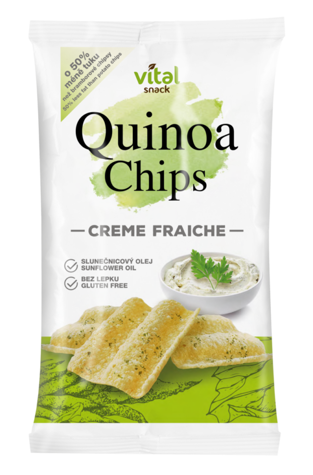 Slané pochutiny: Quinoa Chips Creme Fraiche
