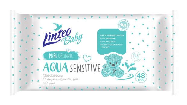 Produkty pro děti: Vlhčené ubrousky Linteo Baby Aqua