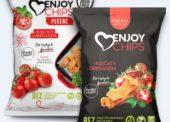 Slané pochutiny: Enjoy Chips s rajčaty a oreganem