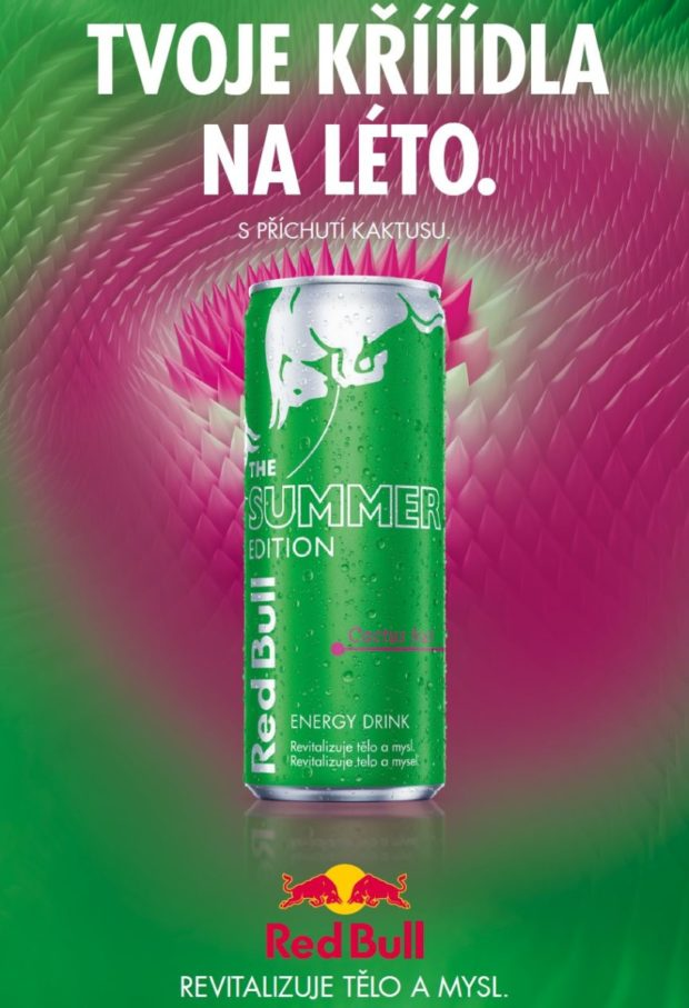 Energetické nápoje: Red Bull Summer edition Cactus fruit