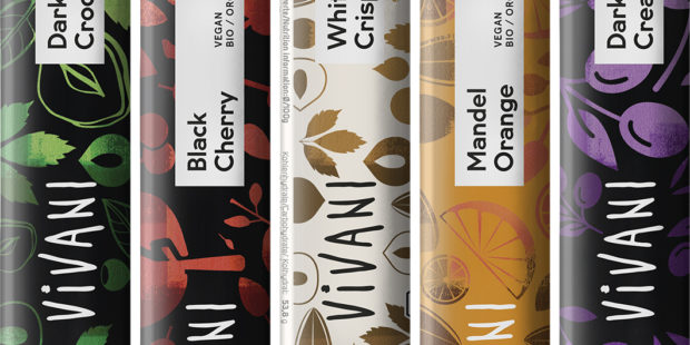 Čokoládové cukrovinky: Veganské tyčinky Vivani